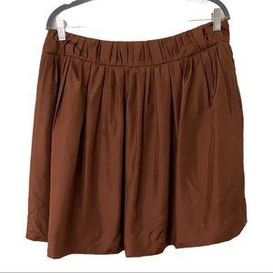 J Crew Pleated Silk Skirt (10)